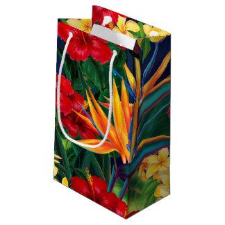 Tropical Paradise Hawaiian Floral Small Gift Bag