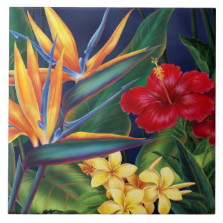 Tropical Paradise Hawaiian Floral Tiles & Trivets