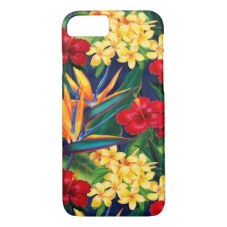 Tropical Paradise Hawaiian Floral Vertical iPhone 8/7 Case
