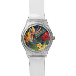 Tropical Paradise Hawaiian Floral Watches