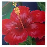 Tropical Paradise Hawaiian Hibiscus Tiles & Trivet