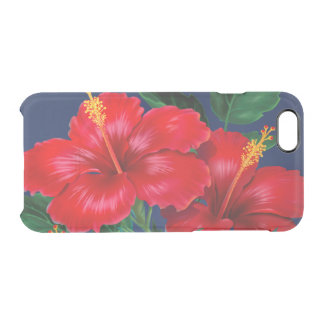 Tropical Paradise Hibiscus Hawaiian Clear iPhone 6/6S Case