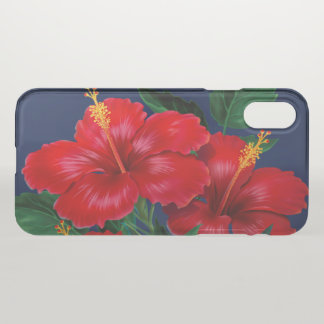 Tropical Paradise Hibiscus Hawaiian iPhone X Case