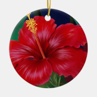Tropical Paradise Hibiscus Ornaments