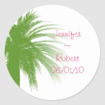 Tropical Paradise in Green and Pink Stickers