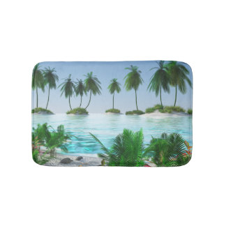 Tropical Paradise Island Bath Mat