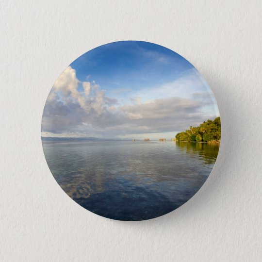 Tropical paradise island Raja Ampat archipelago 6 Cm Round Badge