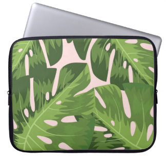 Tropical paradise laptop sleeve