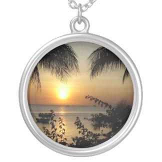 Tropical Paradise Round Pendant Necklace