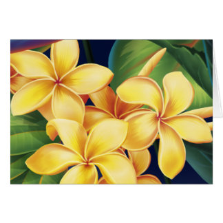Tropical Paradise Plumeria Cards