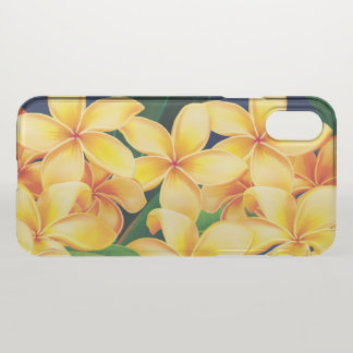 Tropical Paradise Plumeria Hawaiian iPhone X Case