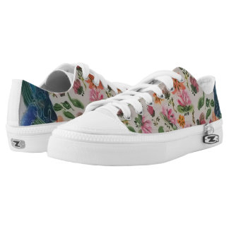 Tropical paradise printed shoes