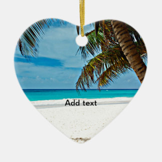 Tropical Paradise Template-Sunny day at the beach Christmas Ornament
