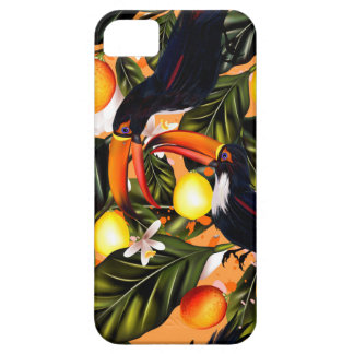 Tropical paradise. Toucans and citrus Barely There iPhone 5 Case