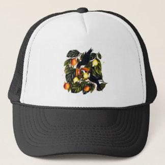 Tropical paradise. Toucans and citrus Trucker Hat