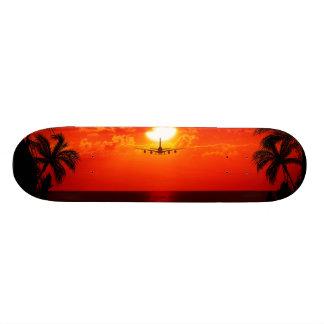 Tropical Paradise Water Beach Sunset Jet Destiny Custom Skate Board