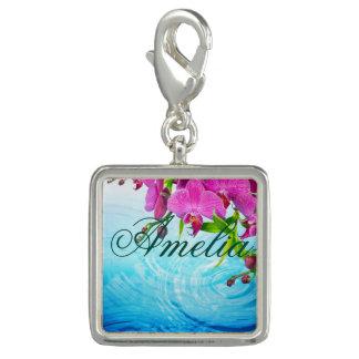 tropical paradise,zen,peace,orchid,blue water,yoga