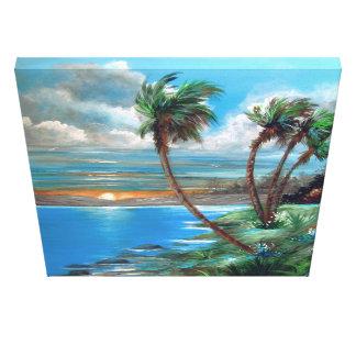 Tropical ParadisePalms Canvas Print