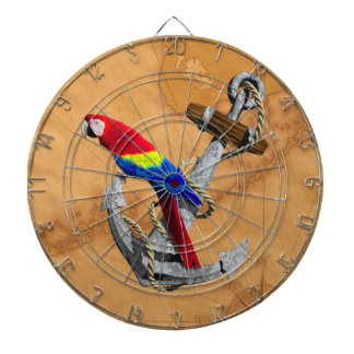 Tropical Parrot And Anchor Dartboard