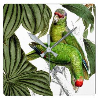 Tropical Parrot Birds Wildlife Animals Wall Clock