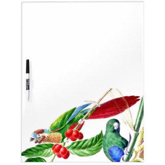 Tropical Parrot Birds Wildlife Dry Erase Board