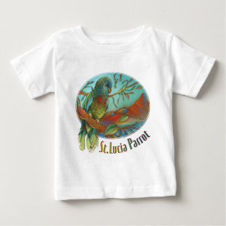 Tropical Parrot of St Lucia Baby T-Shirt
