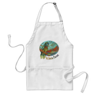 Tropical Parrot of St Lucia Standard Apron