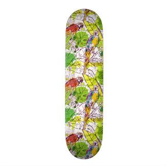 Tropical Parrots 21.3 Cm Mini Skateboard Deck