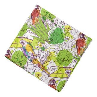 Tropical Parrots Bandana