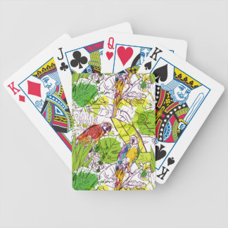 Tropical Parrots Bicycle Playing Cards