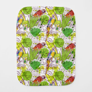 Tropical Parrots Burp Cloth