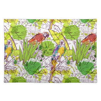 Tropical Parrots Placemat