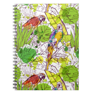 Tropical Parrots Spiral Note Book
