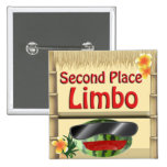 Tropical Party Tiki Hut  2nd Place Limbo Button