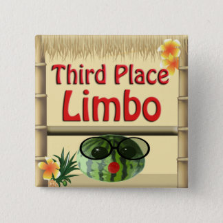 Tropical Party Tiki Hut  3rd Place Limbo Button