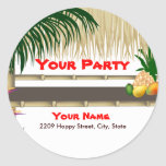 Tropical Party Tiki Hut Sticker