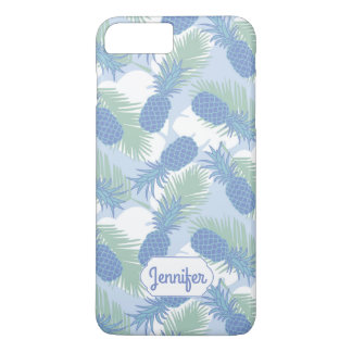 Tropical Pastel Pineapple Pattern | Add Your Name iPhone 8 Plus/7 Plus Case