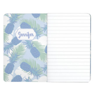 Tropical Pastel Pineapple Pattern | Add Your Name Journals