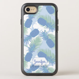 Tropical Pastel Pineapple Pattern | Add Your Name OtterBox Symmetry iPhone 8/7 Case