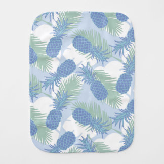 Tropical Pastel Pineapple Pattern Burp Cloths