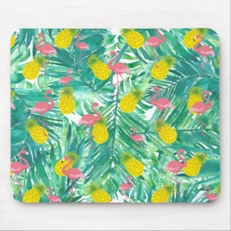 tropical pattern mouse mat