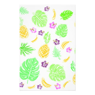 Tropical pattern personalised stationery