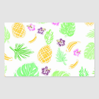 Tropical pattern rectangular sticker