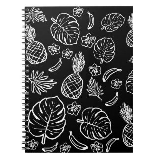 Tropical pattern spiral notebooks