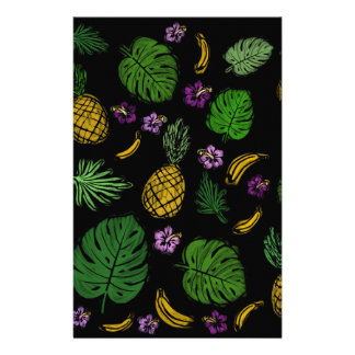Tropical pattern stationery design