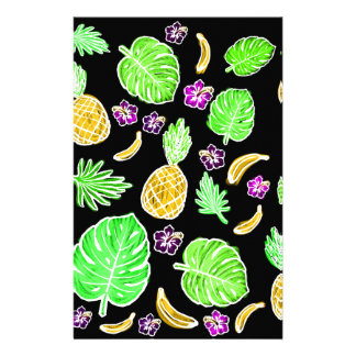 Tropical pattern stationery paper