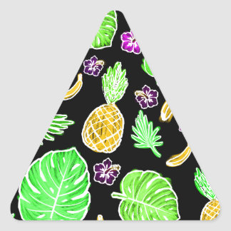 Tropical pattern triangle sticker