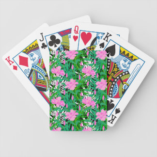 Tropical Pattern With Jungle Flowers Bicycle Playing Cards