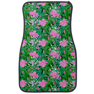 Tropical Pattern With Jungle Flowers Car Mat