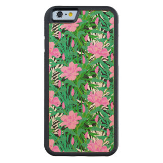 Tropical Pattern With Jungle Flowers Carved Maple iPhone 6 Bumper Case